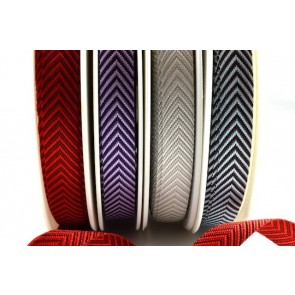 54412 - 12mm Colour Woven Arrow Ribbon (20 Metres)
