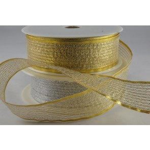 50019 - 7mm, 15mm, 25mm, 40mm Lurex Ribbon (25 Metres)