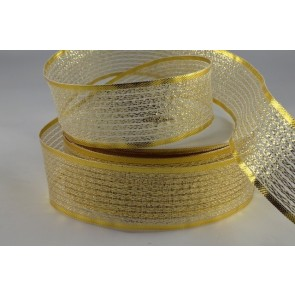50019 - 7mm Gold Lurex Ribbon (25 Metres)