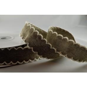 55020 - 25mm Black Coloured Scallop Ribbon with decorative Zigged Edge x 10 Metre Rolls!!