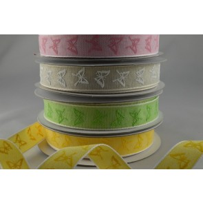 55023 - 15mm Colourful Butterfly Printed Ribbon x 20 Metre Rolls!!