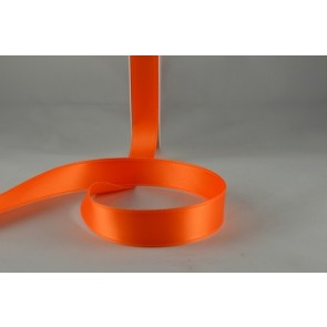 15mm Orange Double Sided Satin x 25 Metre Rolls!