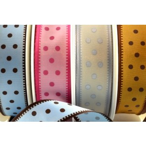 44281 - 25mm Wired Spotted Ribbon (20 Metres)