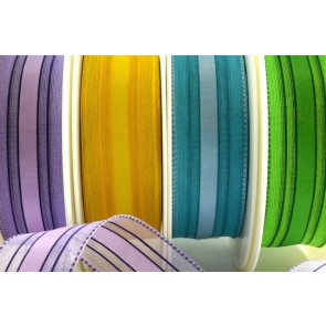 44065 - 25mm & 40mm Wired Woven Edge Ribbon (20 Metres)