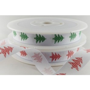 54504 - 12mm Classic Christmas Tree Ribbon x 20 Metre Rolls!!