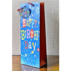 88119 - Happy Birthday Bottle Bag & Tag!!