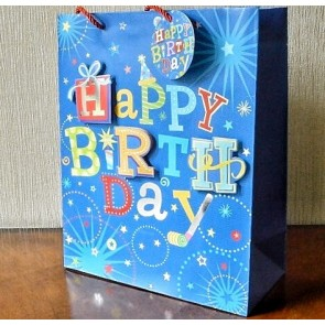 88119 - Small or Medium 3D Happy Birthday Gift Bags & Tag!!