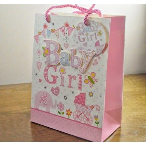 88117 - Small & Medium 3D Baby Girl Gift Bags & Tag!!