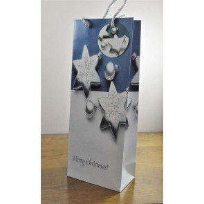 88120 - Sparkling Merry Christmas Glitter Baubles Bottle Bag & Tag!!