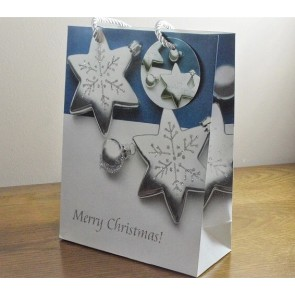 88120 - Sparkling Merry Christmas Glitter Baubles Gift Bags & Tag!!