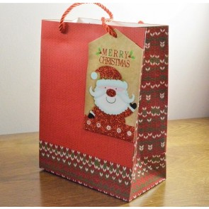 88122 - Medium & Large Red Merry Christmas Gift Bags & Santa Tag!!