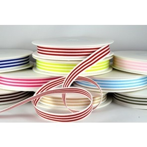 54513 - 15mm & 38mm Colour Woven Stripe (20 Metres)