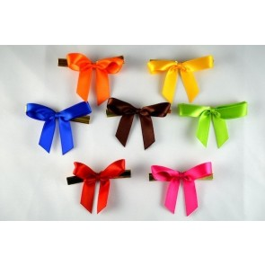 31158 - 10mm Satin Coloured Mini Bows (50 Pieces per Pack)