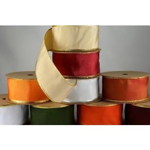 44076 - 25mm, 40mm & 60mm Lurex Edge Wired Ribbon x 3 metre rolls!