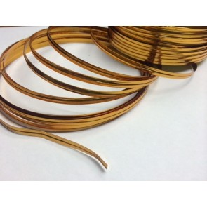Y214 - 4mm Gold Metallic Twist Tie Material x 100 Yards Rolls!!