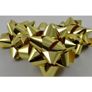 31160 - Gold Gift Packs of 6 Metallic Bows with Self Adhesive Tab