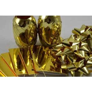 31161 - Gold Bow, Ribbon & Tags Gift Wrap Set!