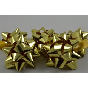 31159 - Gold Set of 9 Metallic Self Adhesive Gift Bows
