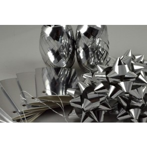 31161 - Silver Bow, Ribbon & Tags Gift Wrap Set!