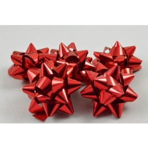 31159 - Red Gift Packs with  9 Metallic Bows Self Adhesive