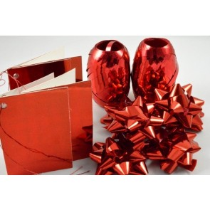 31161 - Red Bow, Ribbon & Tags Gift Wrap Set!