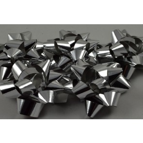 31159 - Silver Set of 9 Metallic Self Adhesive Gift Bows