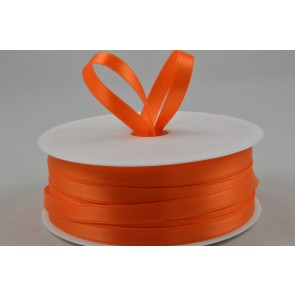 7mm Orange Double Faced Satin Ribbon x 50 Metre Rolls!