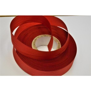 X25 - 24mm Red Moire Acetate Satin Ribbon x 50 Metre Rolls!