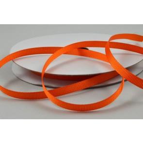 X3 - 6mm Orange Grosgrain Ribbon x 20 Metre Rolls!