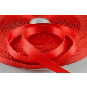 X53 - 15mm Red Double Sided Satin x 300 Metre Rolls!