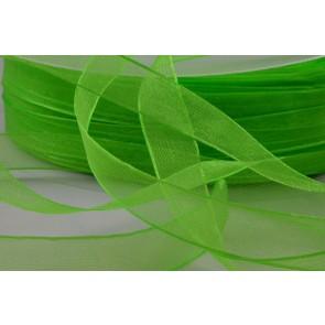 X80 - 15mm Green Sheer Organza Ribbon x 250 Metre Rolls!