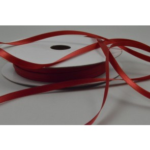 Y103 - 5mm Red Double Sided Satin Ribbon x 50 Metre Rolls!