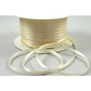 3mm Cream Double Sided Satin Ribbon x 50 Metre Rolls!