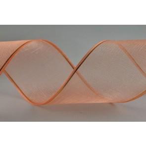 Y151 - 40mm Wired Orange Lurex edged Sheer Organza Ribbon x 20 Metre Rolls!!