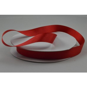 Y203 - 16mm Red Grosgrain Ribbon x 20 Metre Rolls!
