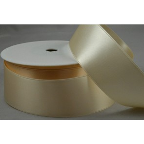 38mm Eggshell Double Faced Satin Ribbon x 25 Metre Rolls!