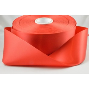 Y36 - 63mm Red Single Faced Satin Ribbon x 100 Metre Rolls!