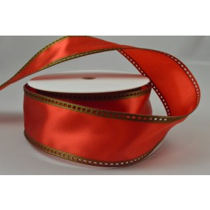 Y72 - 40mm Wired Red & Green Filmstrip Ribbon x 10 Metre Rolls!